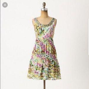 Anthropologie abstract dress, size Zero